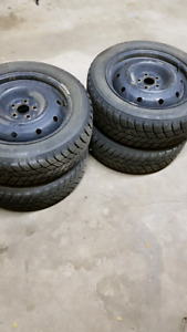 205/55R16 winter tires and rims off 2011 subaru impreza wrx