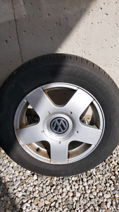 VW Jetta, Golf 1999-2005 Aloy Rims with 195-65-15 All season