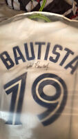 SIGNED ON FIELD JOSE BAUTISTA JERSEY AUTHENTIC!!