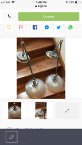 2 HANGING LIGHT FIXTURES EXCELLENT CONDITION USED