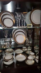 Set de vaisselle Or et Platine