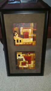 Framed Picasso-Style Canvas Picture