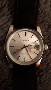 BIRKS MEN'S WATCH OYSTER STYLE WITH CYCLOPS