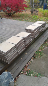 Used ceramic floor tiles