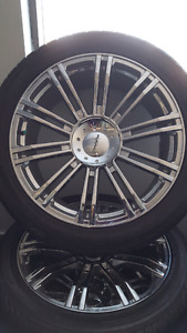 Brand New 275-45-R22 KMC 677 D2 Rims and Tires  Off a Ford F150