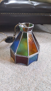 Stained Glass Hanging Light Fixture