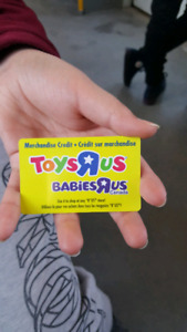 TOYS R US card 336$ for sale