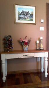 Splendide table console rustique,desserte, d'entrée, d'appoint