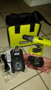 New - RYOBI One 18v Drill, Battery & Charger