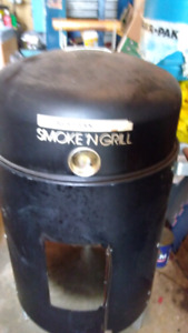 For sale charcoal smoker & bbq grill