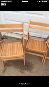 Folding Wooden Chairs Peterborough Peterborough Area image 2
