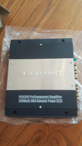 New! Blaupunkt PCA260 2 Channel Car Amplifier. 60Watt RMS.