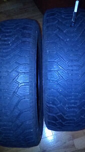 Set of like new Goodyear Nordic 195 60 15 tires