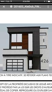 Maison contemporaine avec vue sur leau