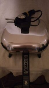 Electric Fry Pan 11 inch stainless or aluminum Lid and adaptor