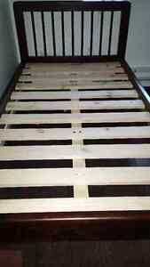 Espresso All Wood Twin Bed Frame