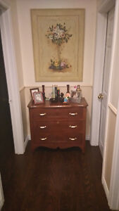ANTIQUE DRESSER - 3 DRAWER - BEAUTIFUL VINTAGE PIECE