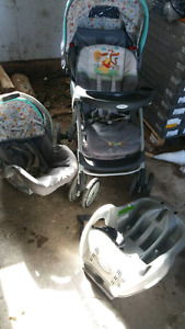 Stroller and car seat set