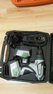 Hussmann cordless drill with 2 batteries and charger