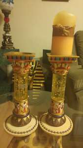 Support a chandelle egyptien