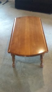 Coffee Table Maple with Leaves