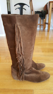 NWT Suede Boots Size 40