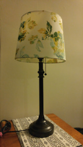 Two beautiful floral table lamps