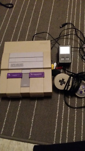 Super nintendo with one controller