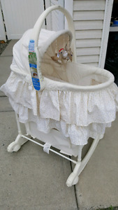 Bassinet with Change table built in.