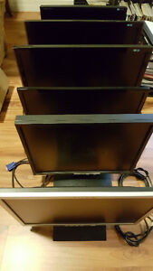 Six LCD Monitors (Bundle)