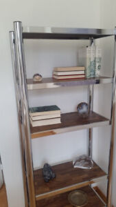 shelving unit and end tables
