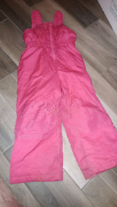 Girls pink snowpants - size 4T