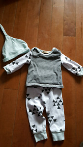 9-12 month outfit with hat