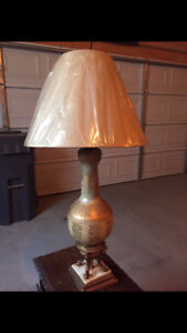 Tall Gold Lamp w/New Shade