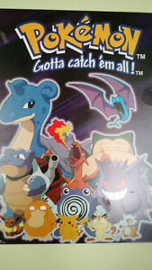 Pokemon wood backed wall poster