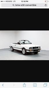 Bmw E30 convertible WANTED