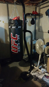 UFC Punching Bag with Century Stand and Speedbag
