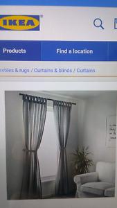 Rideaux ikea gris en bon etat. Ikea stores. Lenda