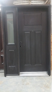 "36"" RHI 2x6 Single Entrance Doorc/w 1 - Fixed Sidelight"