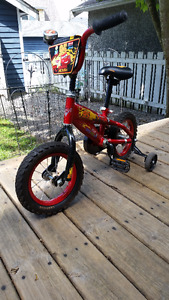 """""""Cars"""" Lightning Mcqueen 12"""" bicycle"""