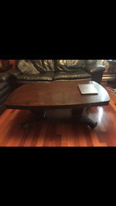 Solid wood Coffee Table and 2 End tables