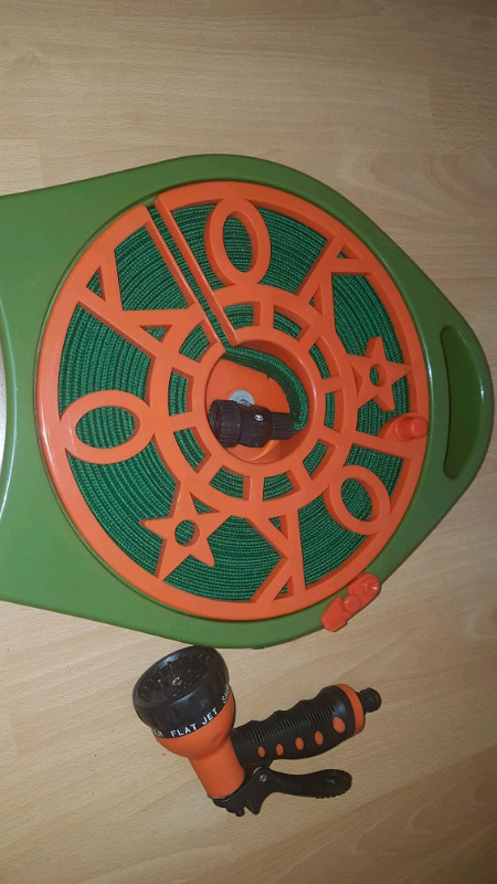 Roll Flat 50 Ft Tangle Free Garden Hose On Reel Outdoor