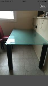 Frosted Glass Kitchen Table