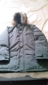 TU CLOTHING MENS PARKA COAT ( L SIZE