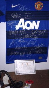 Signed man United Jersey