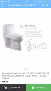 HOME IDOL 1PC TOILET WITH SLOW CLOSING SEAT