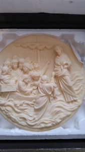 Italian alabaster plates from Bradford Exchange.  Very collectab