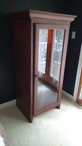 Solid wood lighted stereo or display cabinet