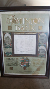 Old dominion bank poster