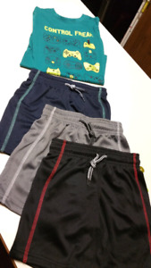 4/5T Boys set...(3) Shorts & Shirt..ALL BRAND NEW WITH TAGS